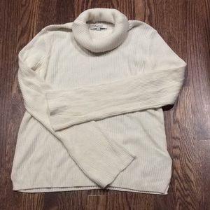 Madewell Ivory Merino Blend Ribbed Sweater Sz XS